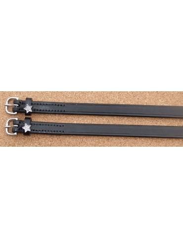 copy of Doebert Spur Straps, Black Leather with Swarovski Stars